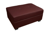 Epic Furnishings Leather Look Storage Ottoman Bench, 36 by 60cm by 46cm , Bordeaux