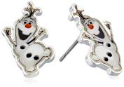 """Disney Girls' """"Frozen"""" Silver-Plated Olaf Stud Earrings"""