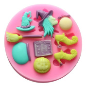 Longzang mini witch set F0491 Fondant Mould Silicone Sugar mould Craft Moulds DIY gumpaste flowers Cake Decorating