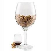 Wine Enthusiast Oversized Wine Glass Cork Holder