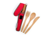 To-Go Ware RePEaT Bamboo Utensil Set with Recycled PET Carrycase, in Cayenne Cover