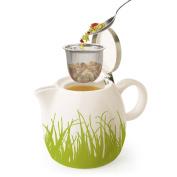 Tea Forte Pugg Ceramic Teapot - Spring Grass