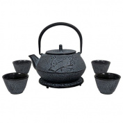 Japanese Tetsubin Light Blue Teapot 800ml 4 Cups