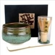 Tea Ceremony Set Bowl and Whisk HS