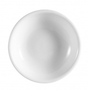 CAC China CN-45 Accessories 8.9cm 60ml Super White Porcelain Round Sauce Dish, Box of 72