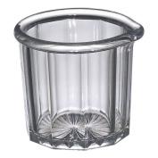 Gessner 1500 Clear SAN Plastic 60ml Creamer / Syrup Pitcher - Dozen
