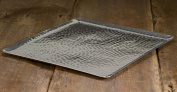 38cm Square Hammered Aluminium Tray by KINDWER