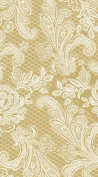 Paperproducts Designs 1411051 15-Pack Lace Royal Elegant Guest Towels, Gold/White