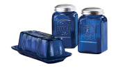 Cobalt Blue Depression Style Glass Salt & Pepper Shakers by Miles Kimball