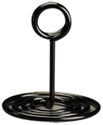 American Metalcraft NSB4 Swirl Base Number Stands, 10cm , Black