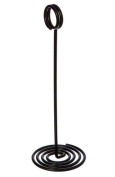 American Metalcraft NSB8 Swirl Base Number Stands, 20cm , Black