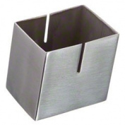 2-1/2†Stainless Steel Box Card Holder - American Metalcraft DXCH2