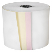 DayMark ACR-3350 Paper Cash Register Tape Roll, 3 Ply, White, 20m Length x 7.6cm Width