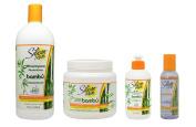 "Silicon Mix Bambu Shampoo & Treatment 1060ml & Leave-in 240ml & Polisher 120ml ""Set"""