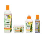 "Silicon Mix Bambu Shampoo 470ml & Treatment & Leave-in 240ml & Polisher 120ml ""Set"""