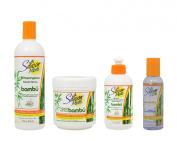 "Silicon Mix Bambu Shampoo & Treatment 470ml & Leave-in 240ml & Polisher 120ml ""Set"""