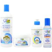 "Silicon Mix Protieina De Perla Shampoo 470ml & Treatment & Leave-in 240ml & Polisher 120ml ""Set"""