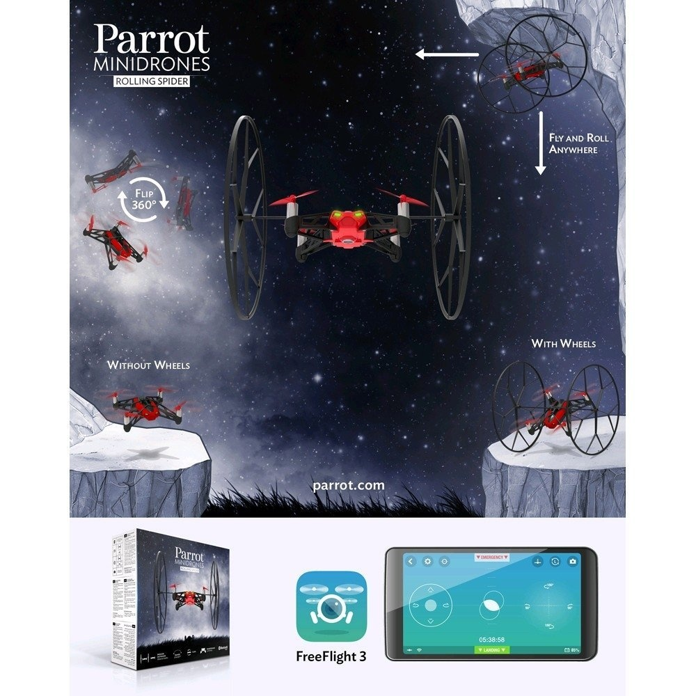 Parrot Toys Buy Online From Minidrones Rolling Spiders White