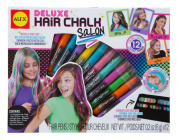 ALEX Toys - Spa Fun, Tattoo's & More, Deluxe Hair Chalk Salon Activity Kit with 12-Pens, 738X
