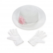Polyester Tea Party Hat Gloves Set