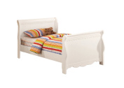 Furniture of America Bethany Anne Sleigh Bed for Children, Twin, White Finish