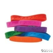 24 Crosses Rubber Bracelets Easter Party Supply