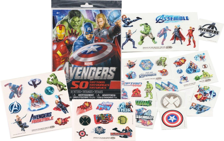 Marvel-AVENGERS-Temporary-Tattoos-50-Tattoos-Iron-Man-Thor-Hulk-Captain