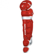 Easton Youth Rival Home and Road Leg Guard, Red/Grey