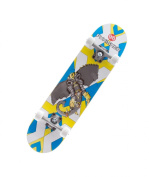 Punisher Skateboards Warphant Complete Skateboard with Concave Deck, Grey/Yellow, 80cm