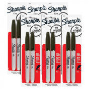 Sharpie Permanent Markers, Fine Point, Black Ink, Pack of 12