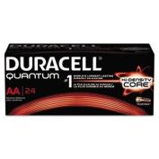 Duracell Quantum Alkaline Batteries with Duralock Power Preserve Technology, AA, 24/Box