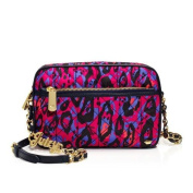 Juicy Couture Nylon Quilted Crossbody Handbag Multi Colour Navy Trimming Leather Chain Strap