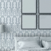 J BOUTIQUE STENCILS Geometric Wall Stencil Donna, Reusable Stencils Patterns for accent wall decor