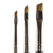 Kolinsky Pure Sable Artist Brush Set Angle Shaders Sizes 2,4,6
