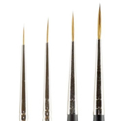 Kolinsky Pure Sable Artist Brush Set Long Liners 10/0, 5/0, 0, 2