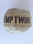 Beige Hemp Twine Cord .5mm 109yd 100m 328ft DIY