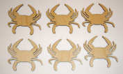 Crab Cut Outs Unfinished Wood Mini Crabs 7cm Inch 6 Pieces CRB-06