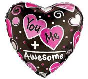 Love Doodles Heart Shaped 43cm Mylar Balloon