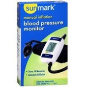 Sunmark Sunmark Manual Inflation Blood Pressure Monitor, 1 Each