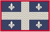 Quebec Canada Flag Iron-on Patch Biker Emblem Red Merrow Border