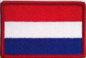 Valledupar Colombia Flag Iron-on Patch Red Merrow Border
