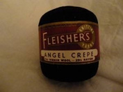 Fleisher's Black Angel Crepe Wool Blend Yarn