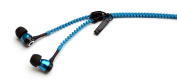 Satzuma Zip Earphones - Blue