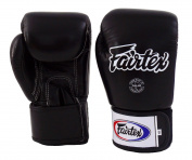New Fairtex BGV1 Boxing Gloves Solid Black, 12 Oz. Universal Boxing Gloves For Muay Thai, Kick Boxing, MMA, K1
