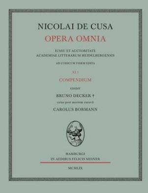 Nicolai de Cusa Opera Omnia. Volumen XI 3.