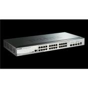 D-Link DGS-1510-28X 24-Port Gigabit Stackable SmartPro Managed Switch with 4-Port SFP+
