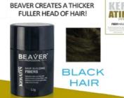 Hair Thickening Fibres - BLACK- 12gms