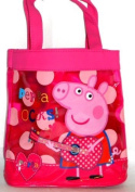 Official Peppa Pig Rocks Girls Shopper Handbag Shoulder Tote Book School Bag Back To School