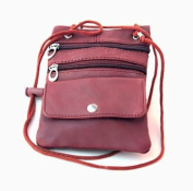 Genuine Lambskin Leather Travel Organiser Crossbody Shoulder Bag