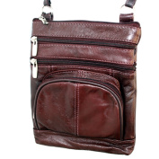 Genuine Leather Shoulder Round Pocket Crossbody Bag